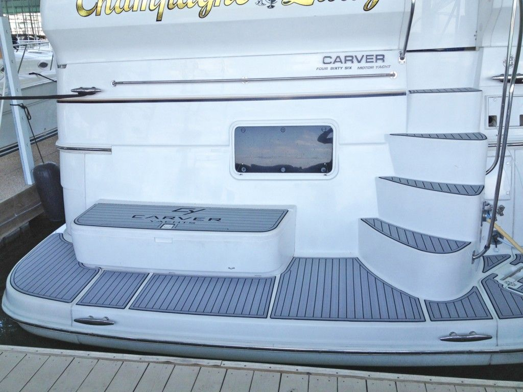 Carver Yacht Custom Seadek Installation By Hydrotunes Awesome Job Guys Carver Yachts Power Boats Yacht Design