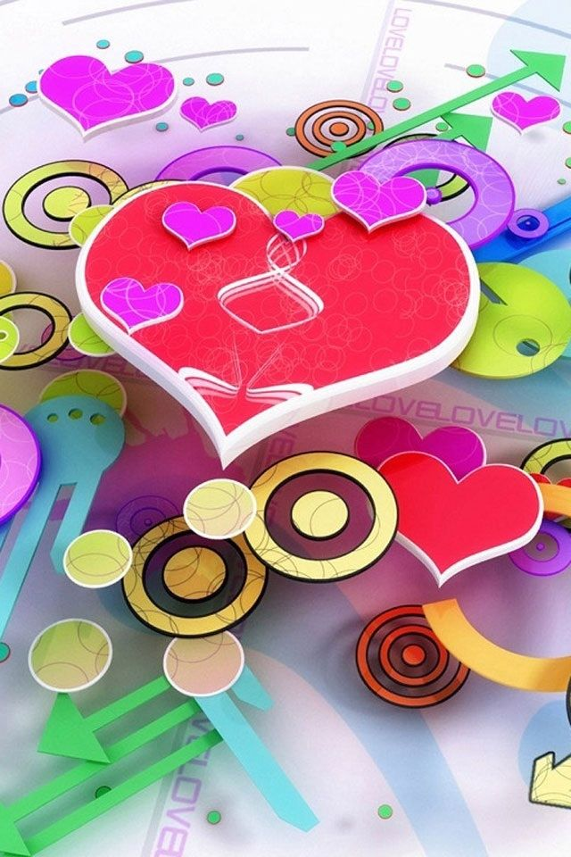 cool circle love heart wallpapers for iphone 4s