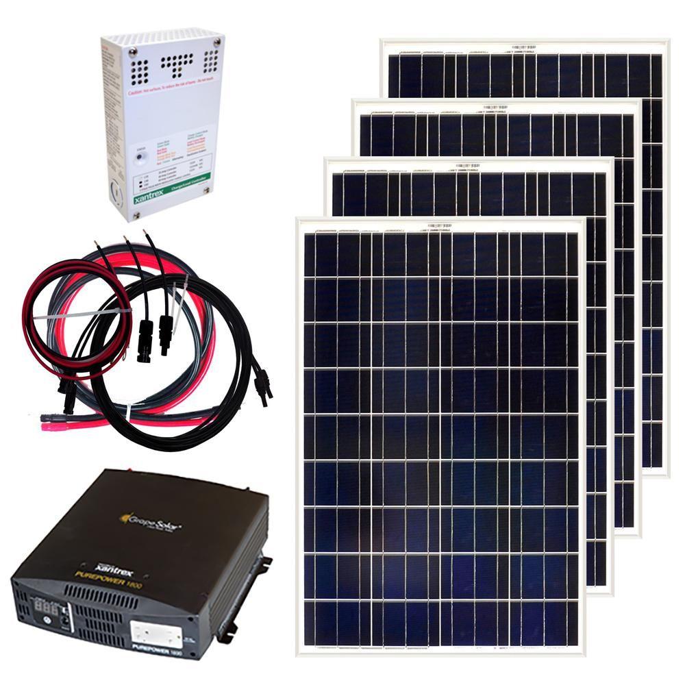 Grape Solar 400 Watt Off Grid Solar Panel Kit Solar Kit Solar Panel Kits Off Grid Solar