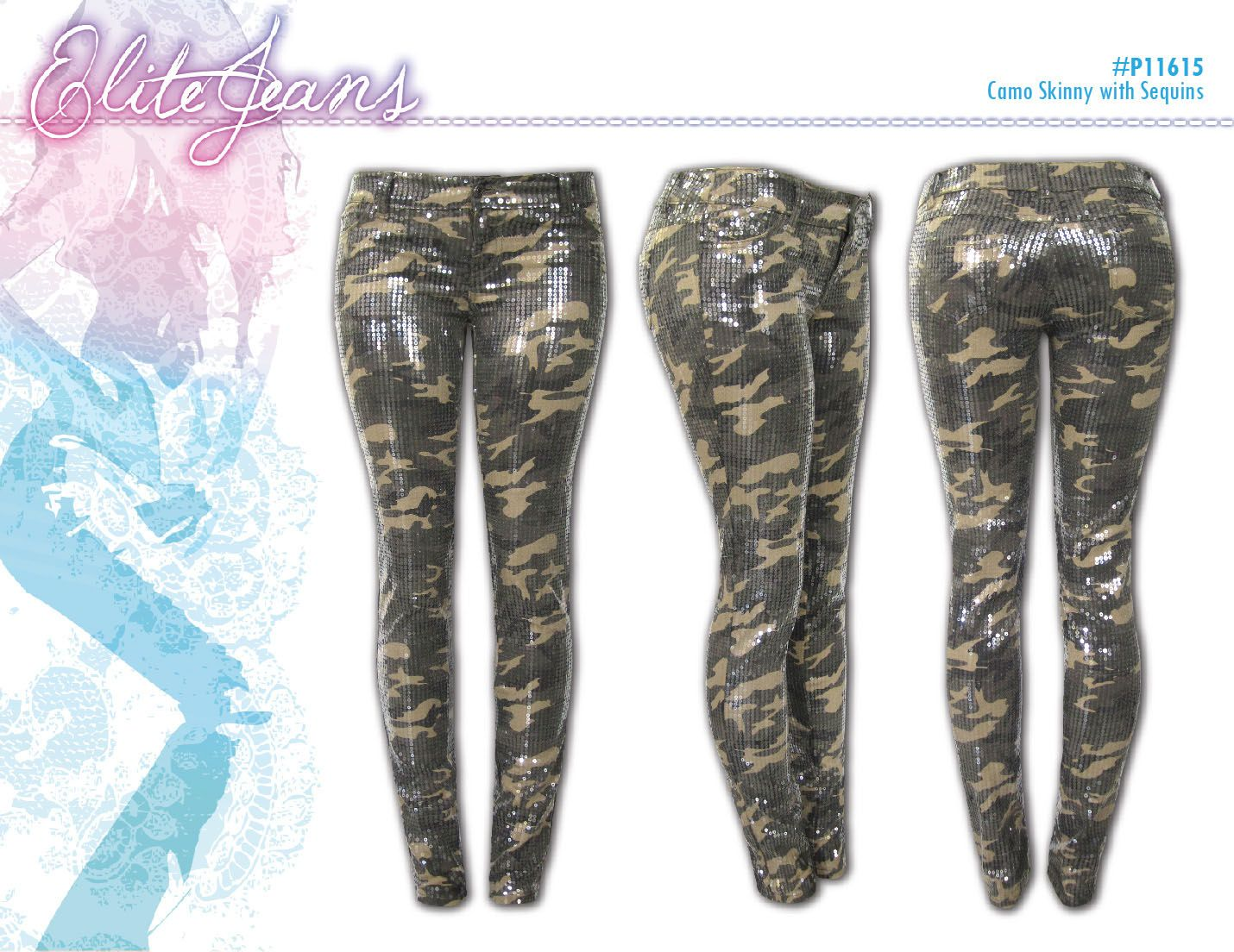 Camo!! With clear sequins!