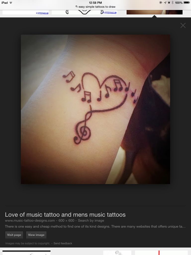 I absolutely love how the heart intertwines with the treble clef