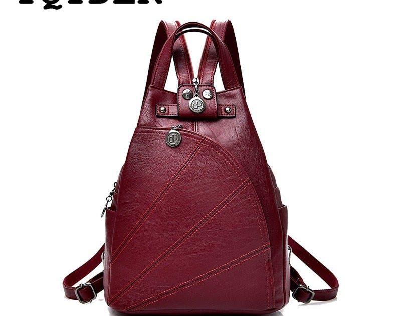 Fashion Leisure Women Backpacks Women s PU Leather Backpacks Female school Shoulder  bags for teenage girls Travel Back pack c4062bda8e3e7