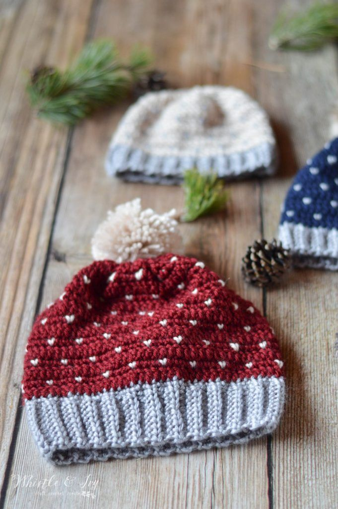 Crochet Snowfall Hat - Size Baby to Adult - Free Crochet Pattern ...