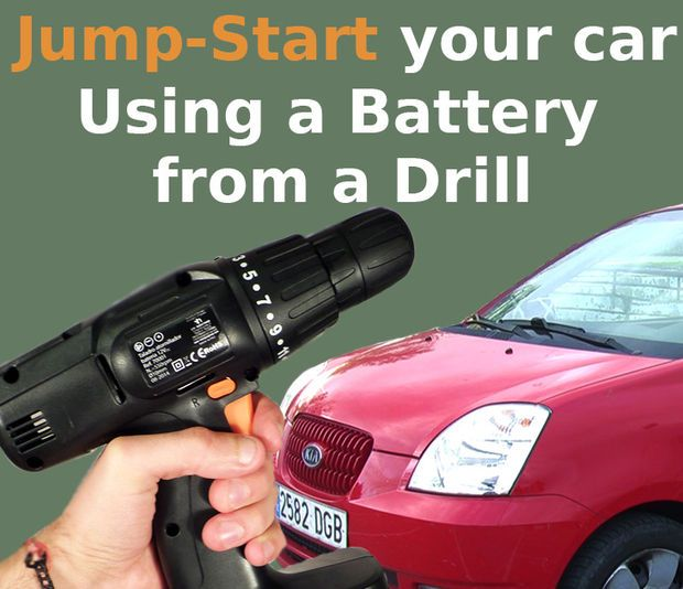 Jump Start Your Car With Drill S Battery Drill Battery Repair