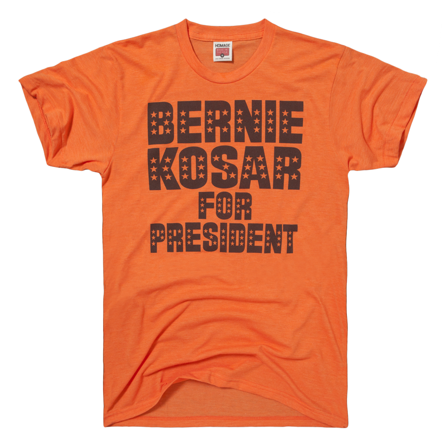 18a876ce993 HOMAGE Cleveland Browns Bernie Kosar For President T-Shirt - $20.00 ...