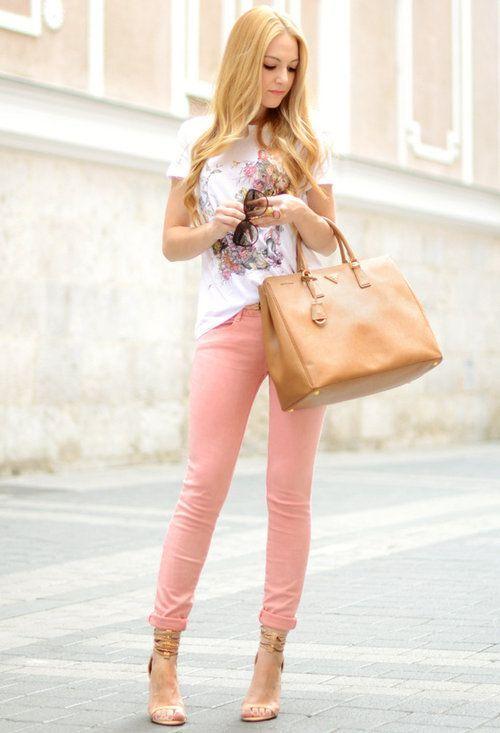 Street style in Blazer in Apricot (Farbpassnummer 14) Kerstin Tomancok / Farb-, Typ-, Stil & Imageberatung