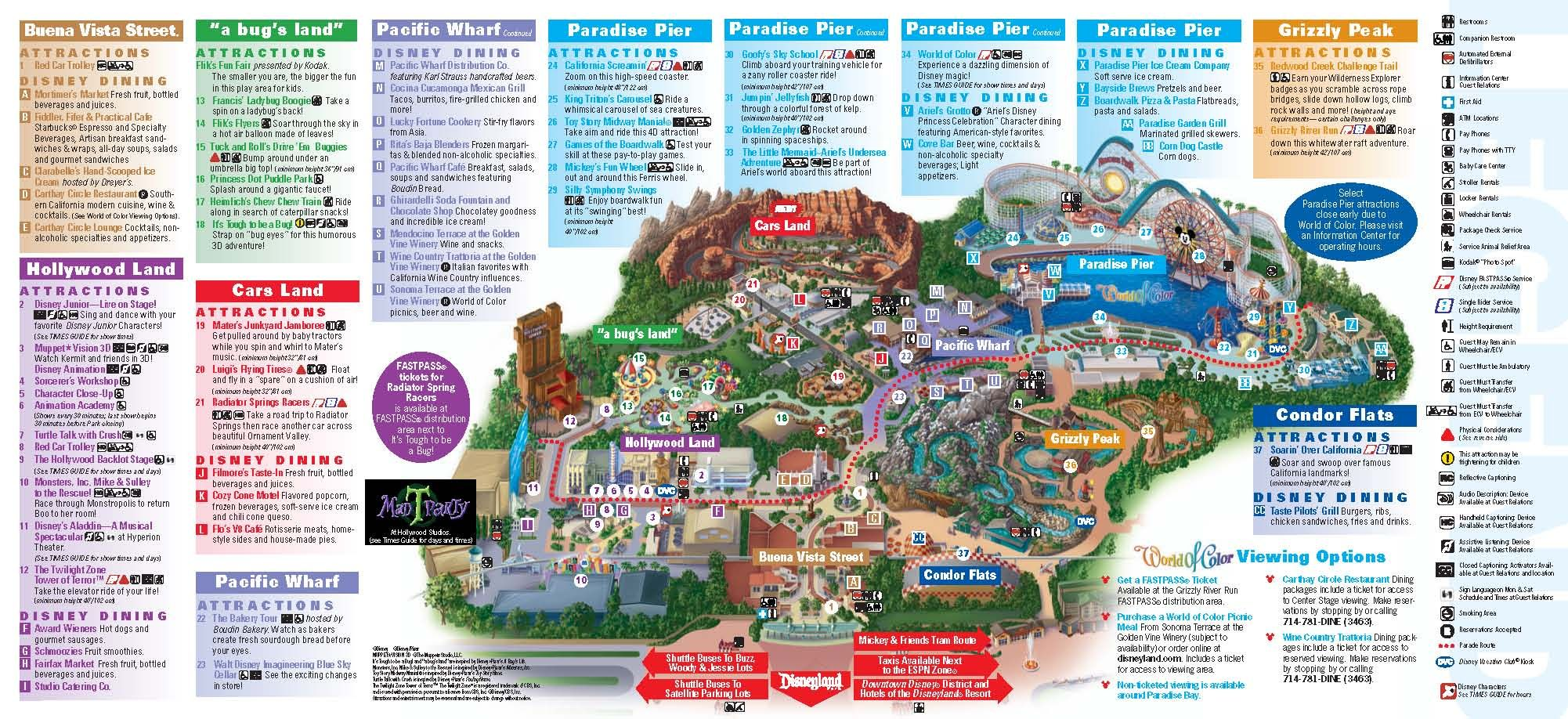 Disneyland Adventure Park Map Disneyland California Adventure Park Map | park maps disneyland  Disneyland Adventure Park Map