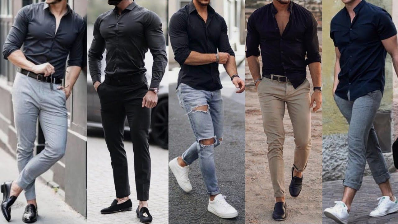 Black Shirt Black Shirt Outfits Ideas For Men Formal Clothing 2019 Shirt Outfit Men Black Shirt Outfit Men Mens Dress Outfits [ 720 x 1280 Pixel ]