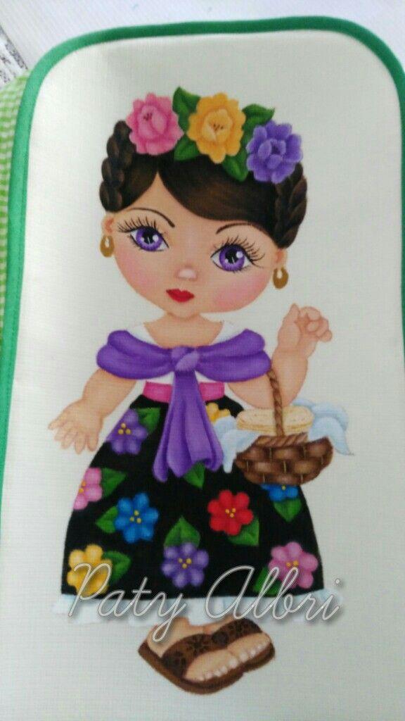 Vendedora de tortillas pintura en tela elaborada por paty albri pinturaentela navidad - Dibujos para pintar en tela infantiles ...