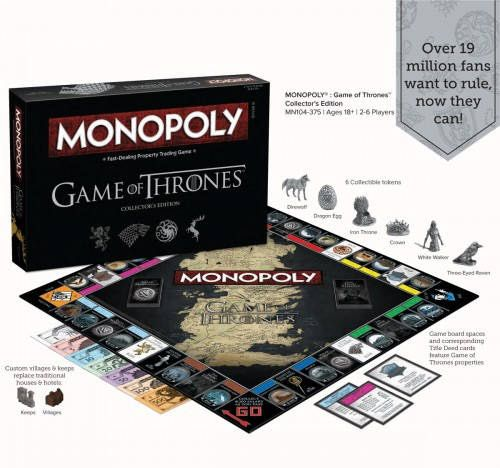 Game Of Thrones Monopoly Game Of Thrones Games Monopoly Game