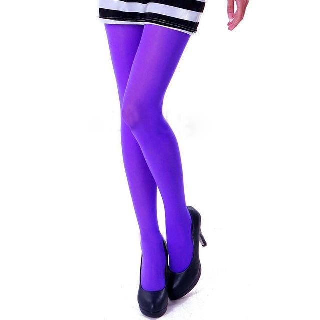 3bea406ef83 Women s Sexy Footed Thick Opaque Warm Pantyhose Stretch 120 Denier Long  Soft Autumn Winter Nylon Tights Candy Color Stockings