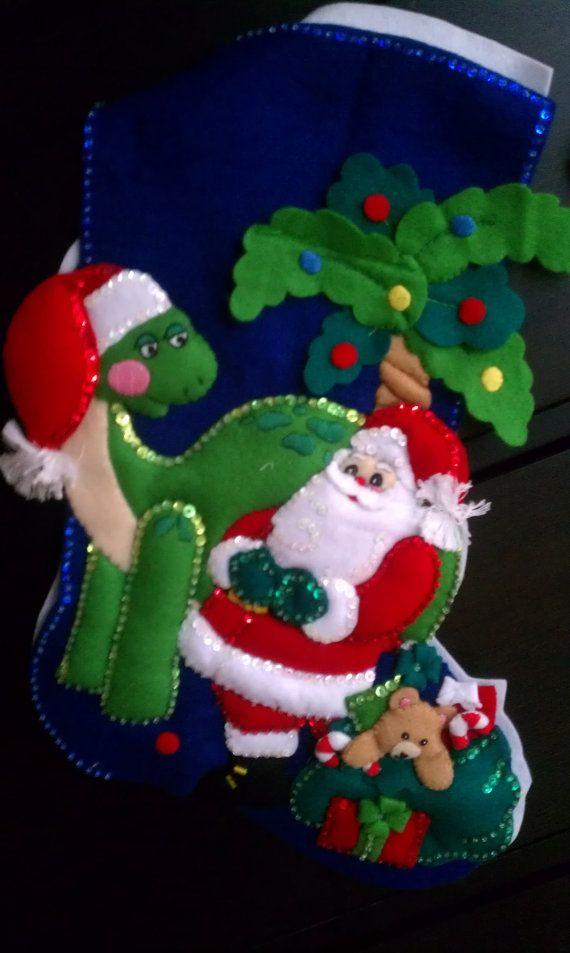 Dinosaur Christmas Stocking | Christmas Inspiration | Pinterest ...