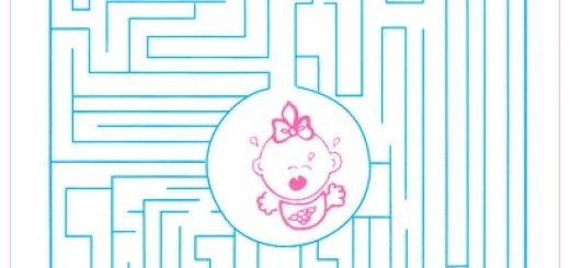 Juegos de baby shower Laberinto 2
