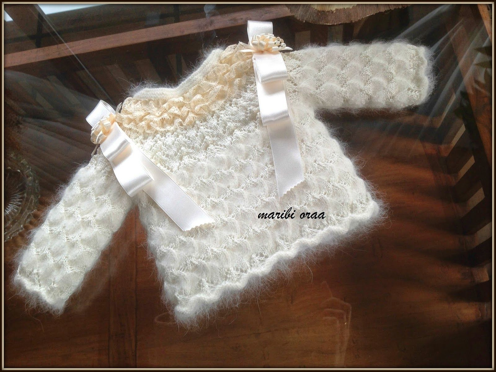 En lana, perlé y angora para bebé: Chaquetitas | ПЛАТКИ | Pinterest ...