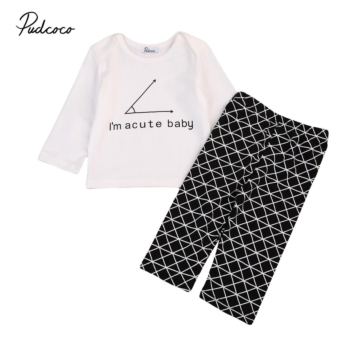 66c6a08fa094 New Cute Newborn Baby Outfits Infant Kids Boy Long Sleeve T-shirt Cotton  Blend Pullover Tops Geometric Pants 2pcs Baby Boys Set. Yesterday s price   US  5.45 ...