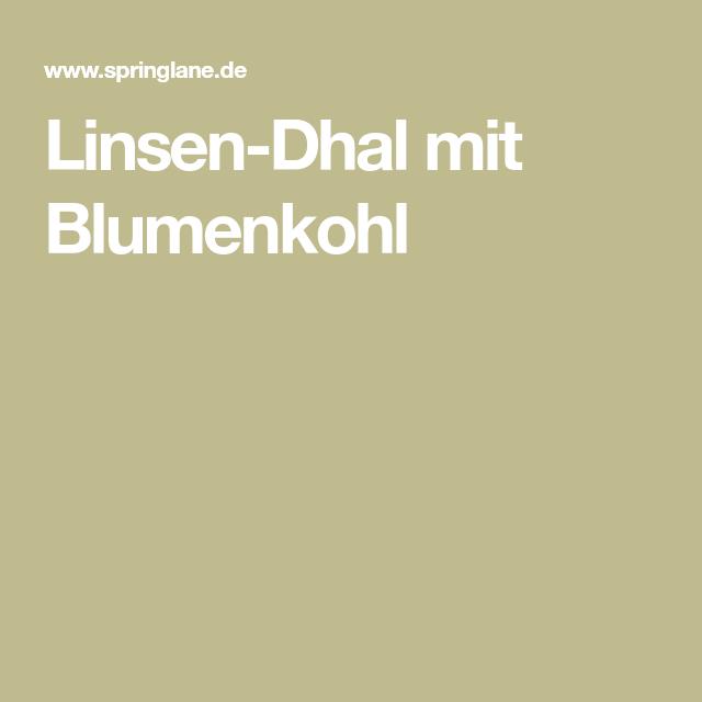 Linsen-Dhal mit Blumenkohl