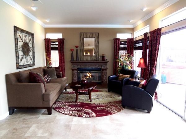Decorating A Cranberry Colored Living Room Ideas And Inspiration Family Room Remodel Home Improvement Projects Modern Home Furniture