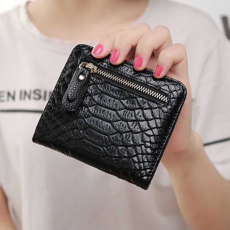 LEFTSIDE 2016 New Hot Womens Mini Short Wallets And Purses PU Serpentine Leather Women Wallet I Clip Money Credit Card Holder