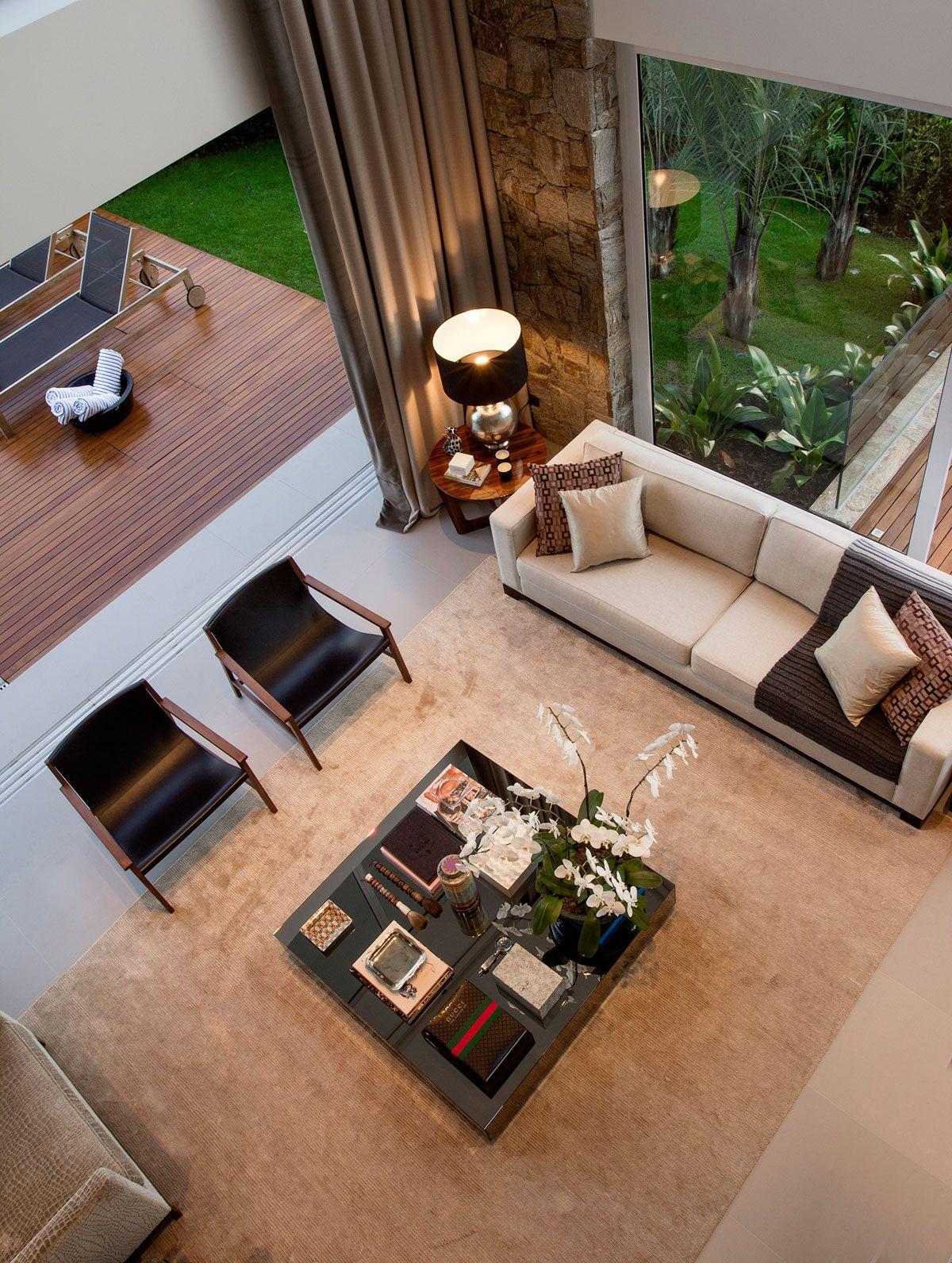 Casa Condominio II by Marcelo Mota Arquitetura | Sala | Pinterest ...