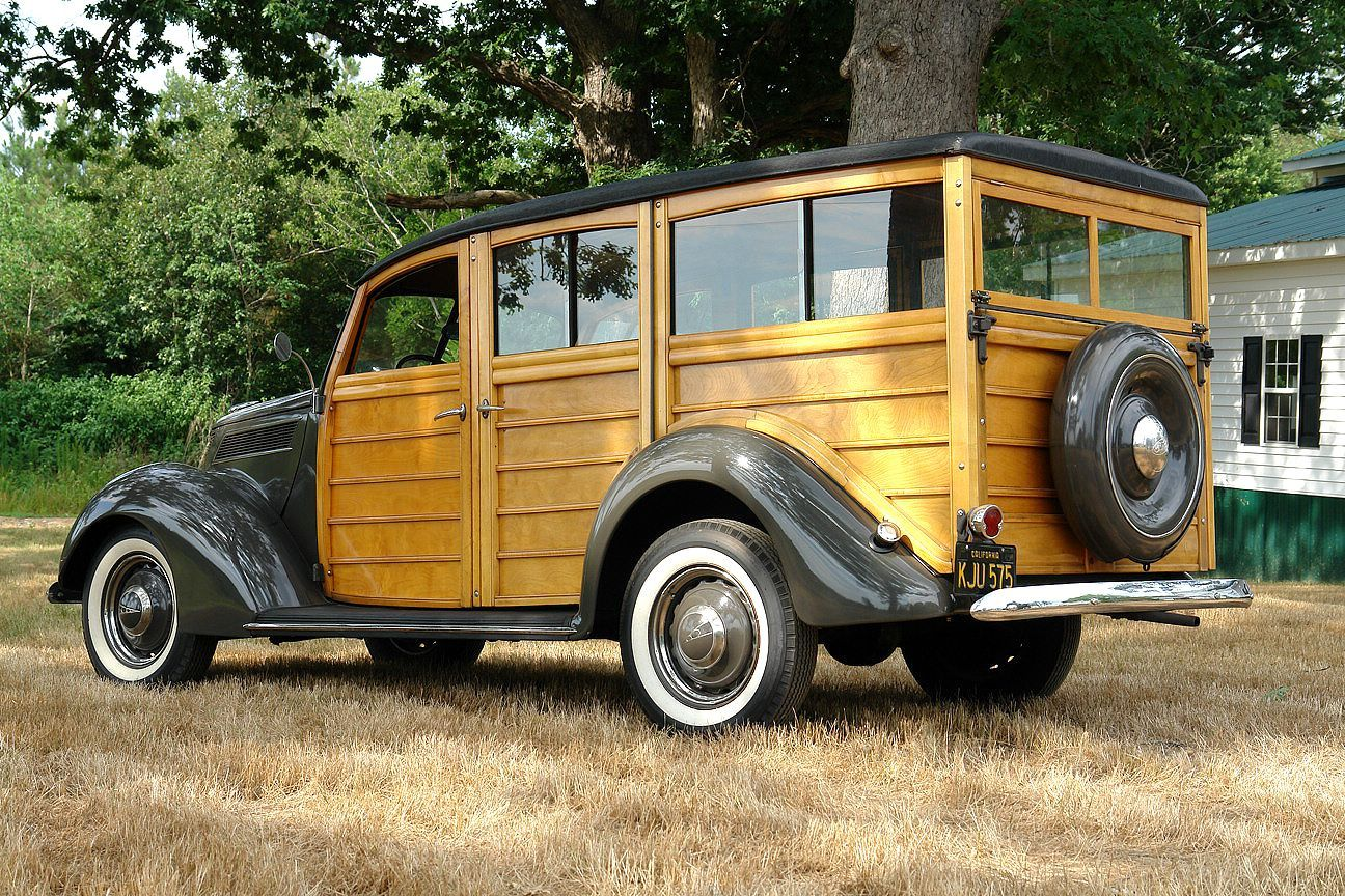 Rare 1937 FORD MODEL 78 DELUXE WOODIE STATION WAGON © http://www ...