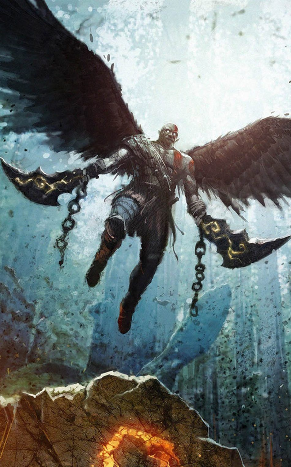 Hd Wallpaper 56 Kratos Desenho God Of War Gods Of War