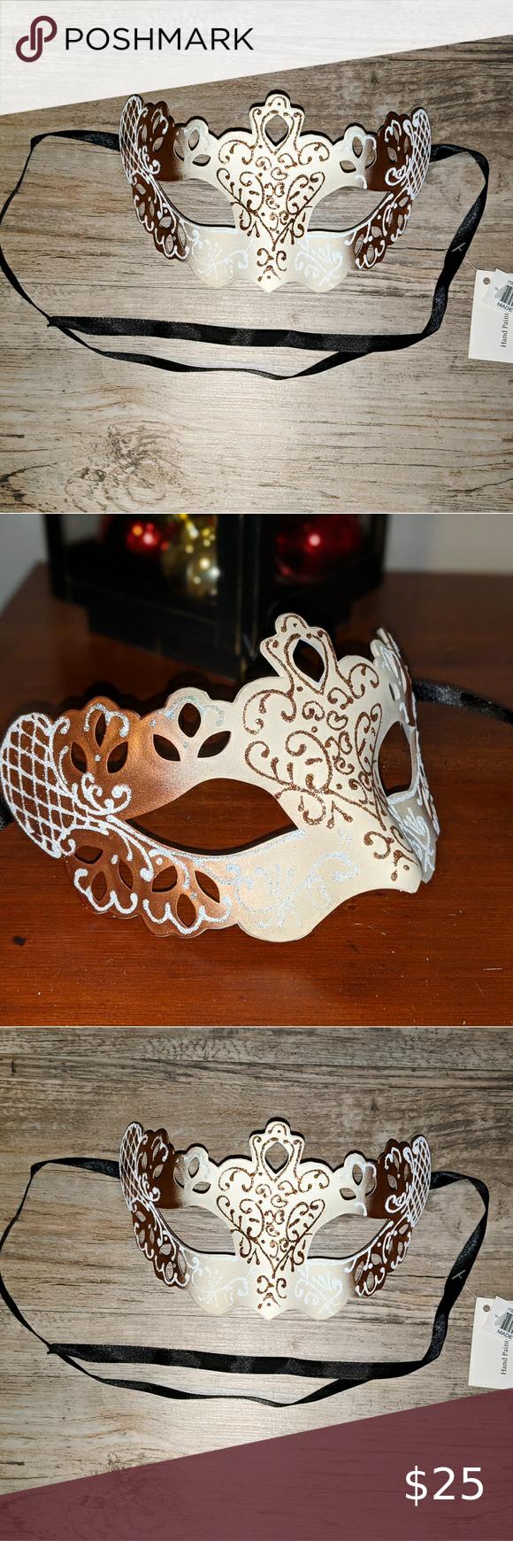 Wedding Masquerade Mask Rose Gold Wedding Masquera