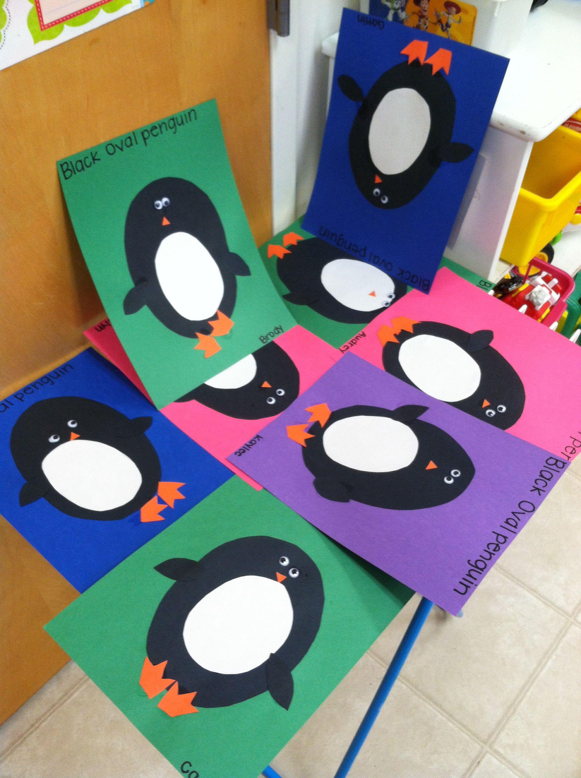 Black Oval Penguin Craft