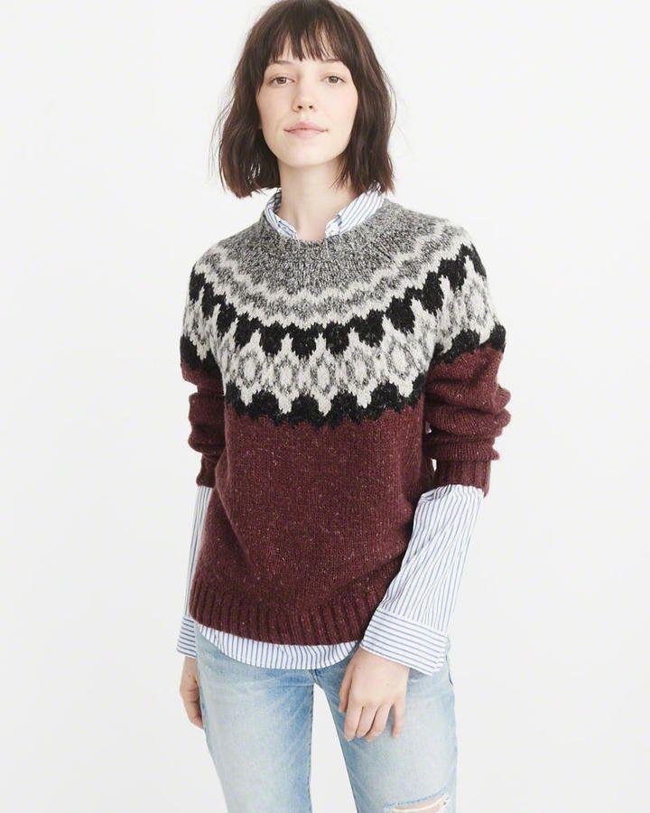 5753695fbee Abercrombie   Fitch Fair Isle Crew Sweater