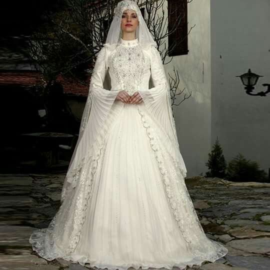 vestido de novia turca, estillo islamica | pretty wedding's dress