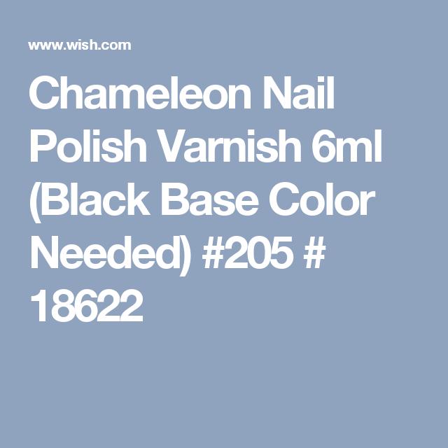 Chameleon Nail Polish Varnish 6ml (Black Base Color Needed) #205 # 18622