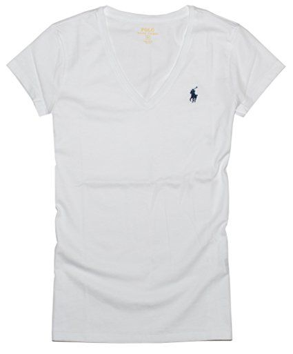 a87810f2a Polo Ralph Lauren Women's Pony Logo V-Neck Tee at Amazon Women's Clothing  store: