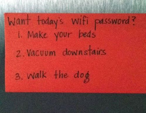 Modern Day Parenting at its Finest.  Love this!!!!