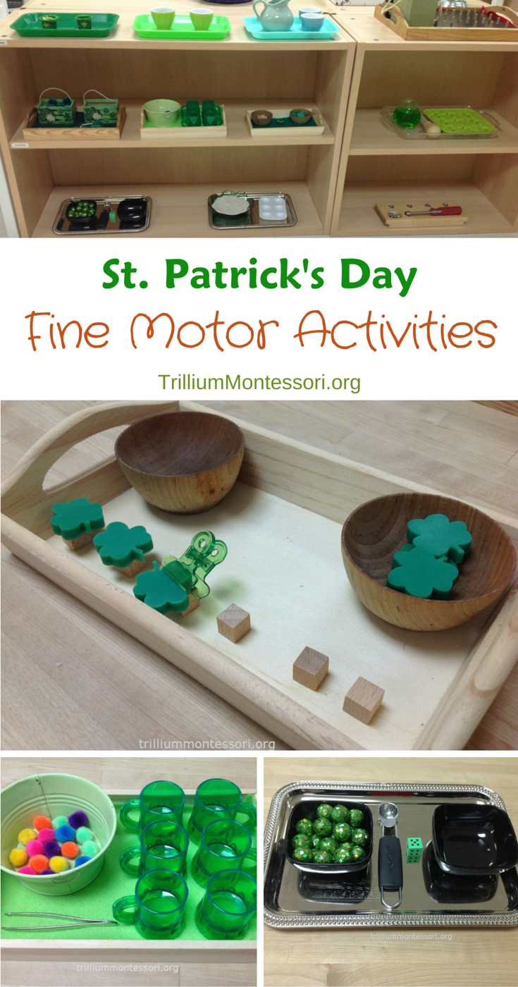 St. Patrick's Day Fine Motor Activities - trilliummontessori.org — trilliummontessori.org