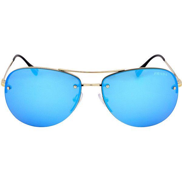 86fd795e52 czech prada blue mirror sunglasses e8584 15eb0