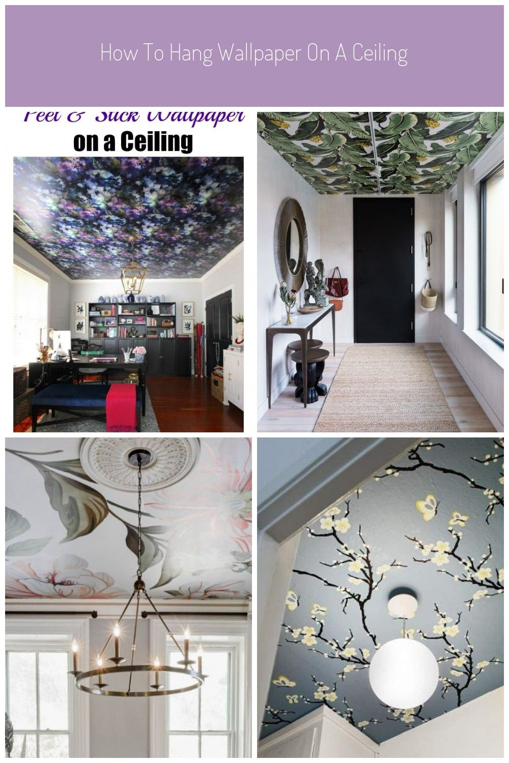 Peel And Stick Wallpaper Can Be Used On Walls Ceilings Furniture Home Decor Pieces You Name It See This Tutorial On How To Hang Wallpaper On A Ceiling Happy Fr