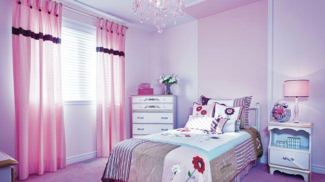 Un camaïeu de rose dans la chambre d\'enfant | Bloc, La tete et Tete de