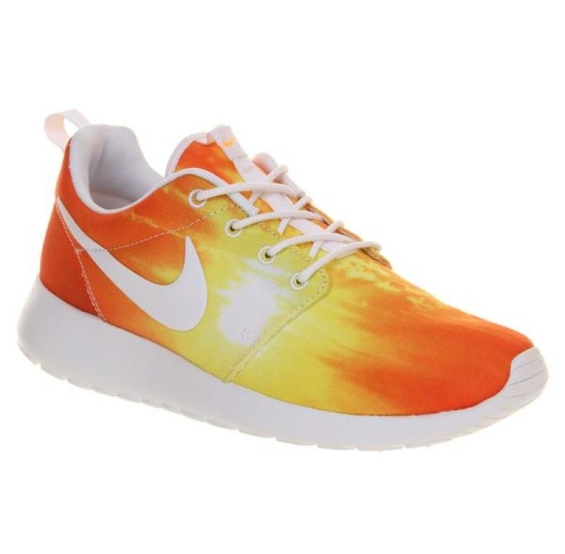 Nike Roshe Run Mango Sunset formateurs Hommes Roshe Run Femmes