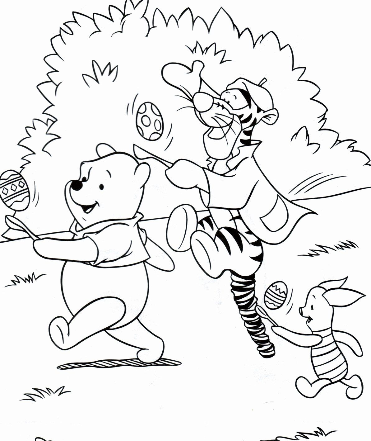 Disney Spring Coloring Pages Beautiful Easter Colouring Winnie The Pooh Disney Easter Colourin Spring Coloring Pages Bunny Coloring Pages Easter Coloring Pages