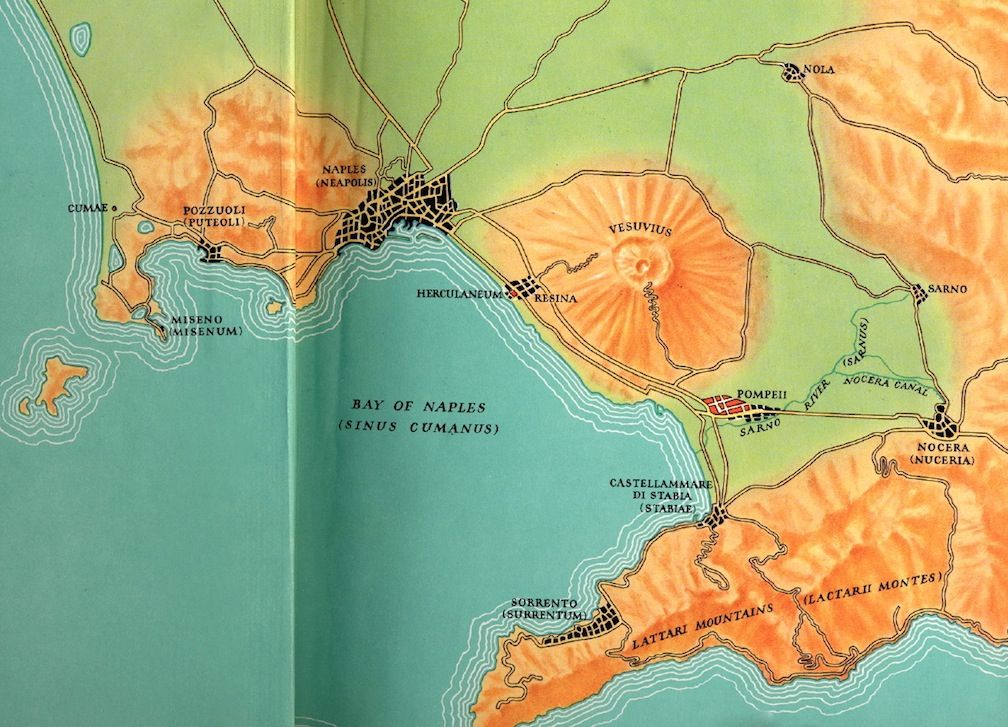Map Of Vesuvius In The Bay Of Naples By Edward A Schmitz From - Vesuvius map