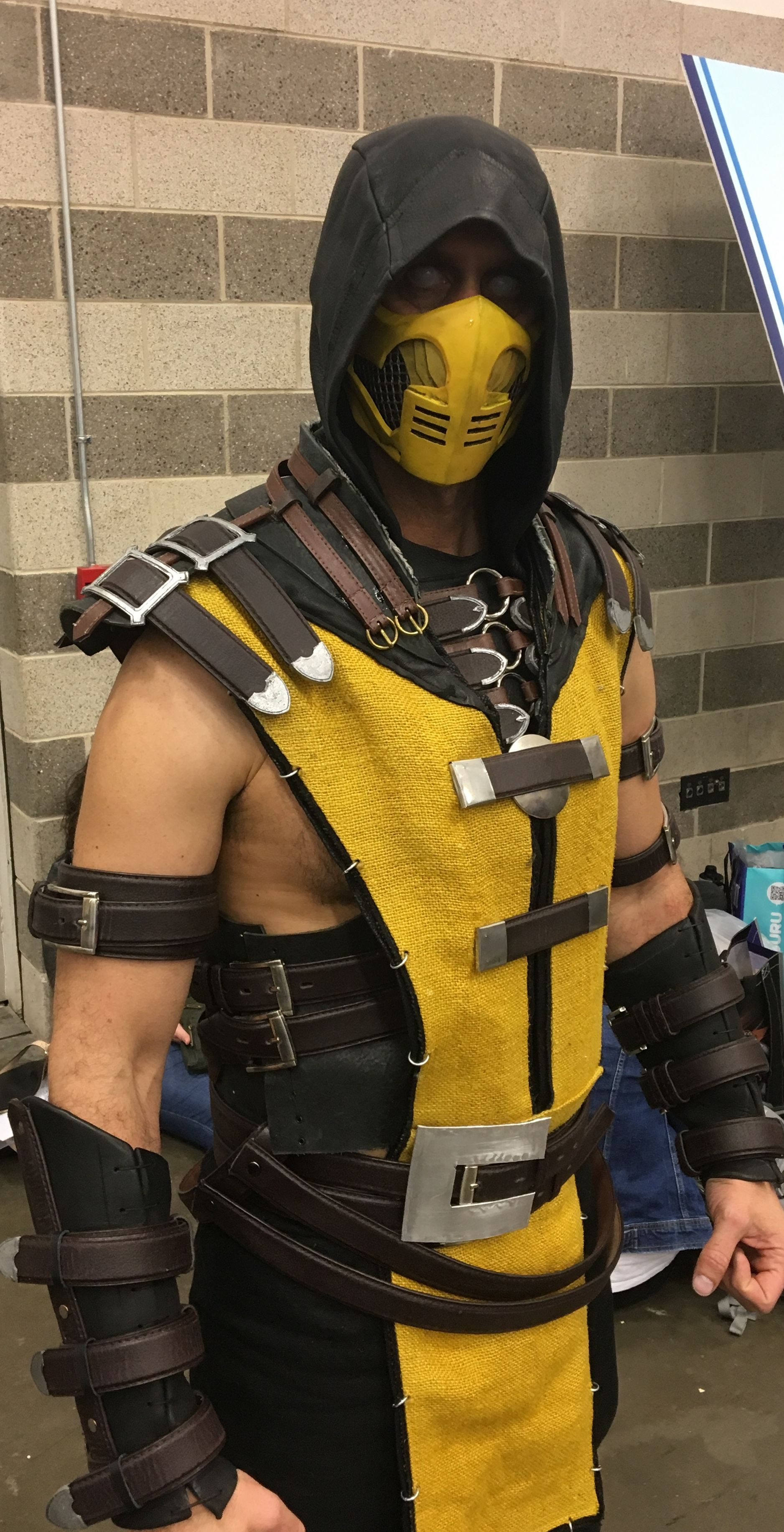 Mortal Kombat 11 Scorpion Cosplay Costume Mask MK 11 COOL Game Party Show Props