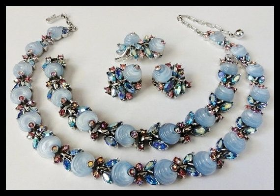 Blue Necklace And Earring Sets