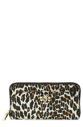 295c38f4c41b Tory Burch  Plaque  Leopard Print Continental Wallet Continental Wallet