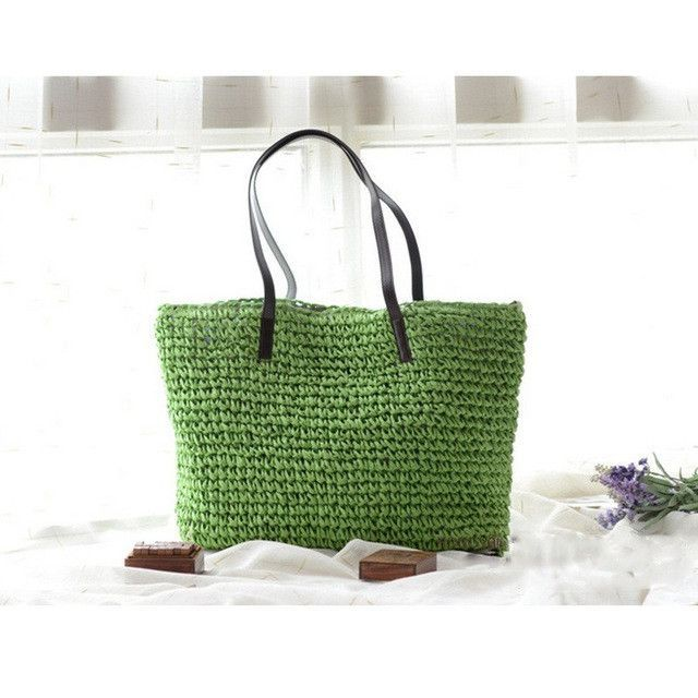 Summer Women Durable Weave Straw Beach Bag Feminine Linen Woven Bucket Bag Grass Casual Tote Handbags Knitting Rattan Bags Hobos