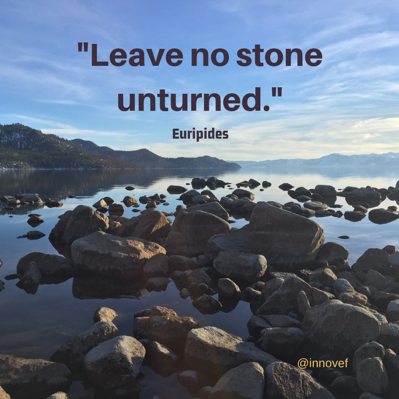 Leave No Stone Unturned Euripides Qotd Wisdom Quotes Motivation Encouragement Inspiration Believe Worlds Of Fun Friday Motivation Inspirational Words