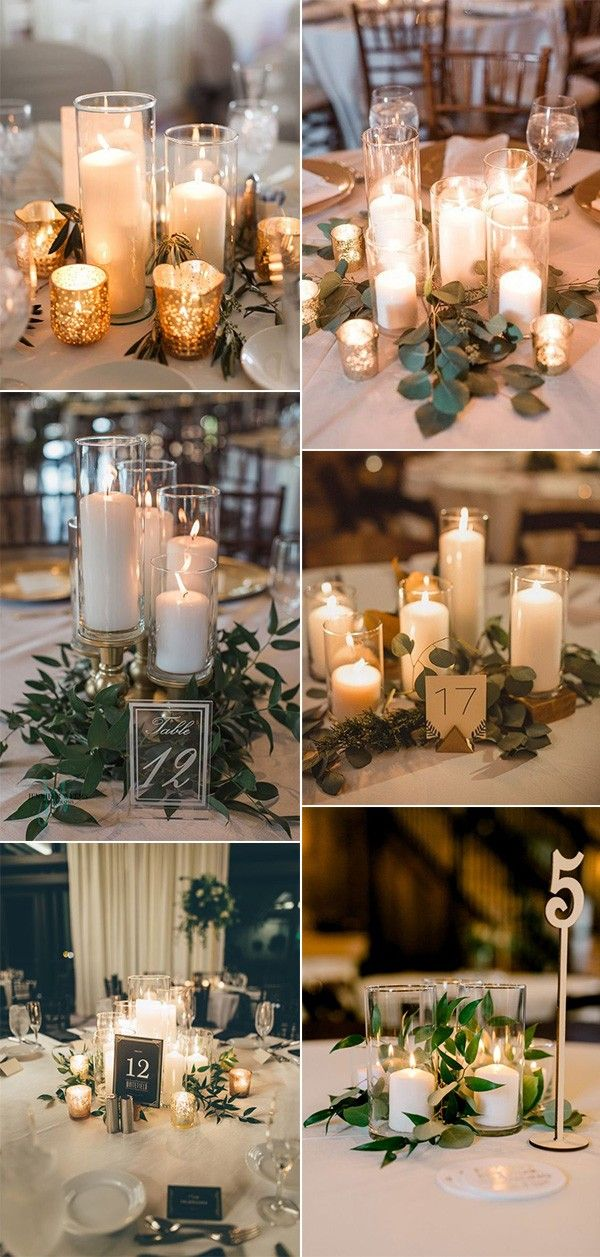 20 Budget Friendly Simple Wedding Centerpiece Ideas With Candles