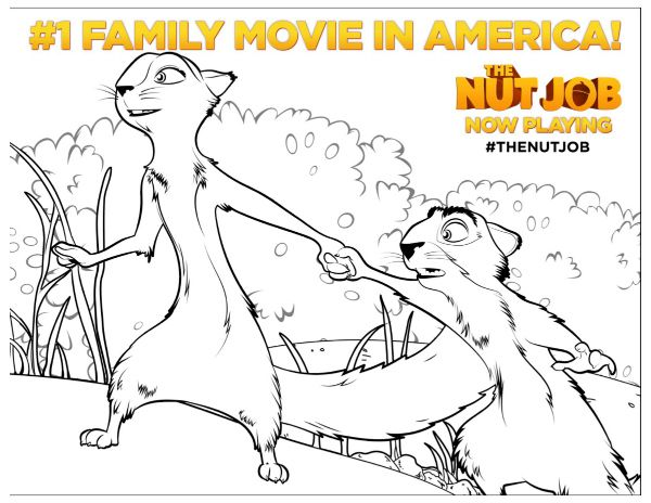 the nut job printable coloring page