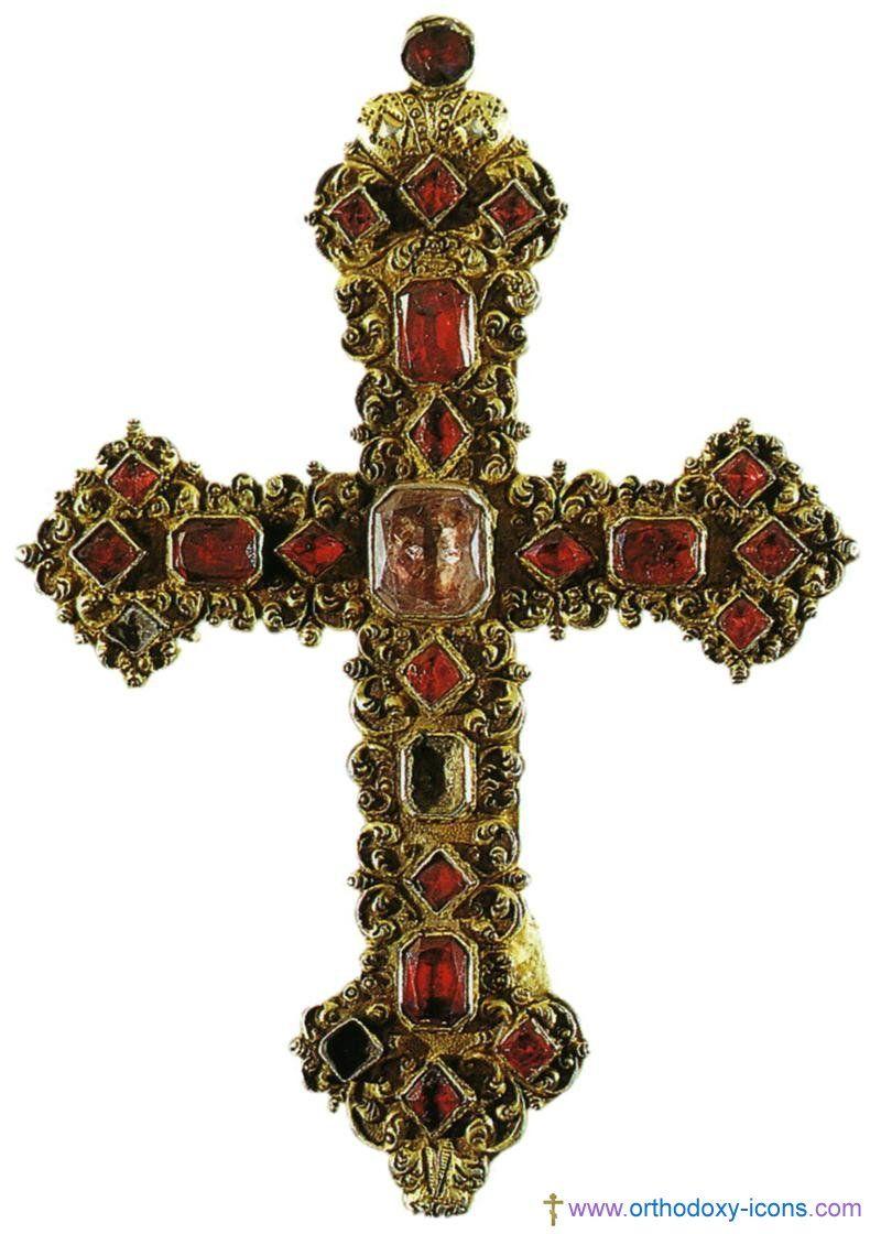 Greek Orthodox Cross Russian Orthodox Cross Xviii Early Xx