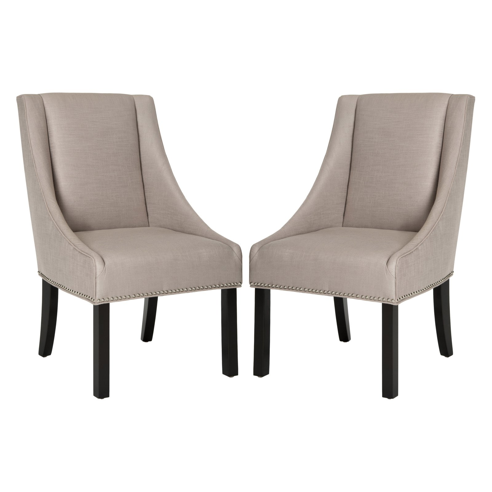 Safavieh Morris Sloping Arm Dining Chairs Set Of 2 Dining