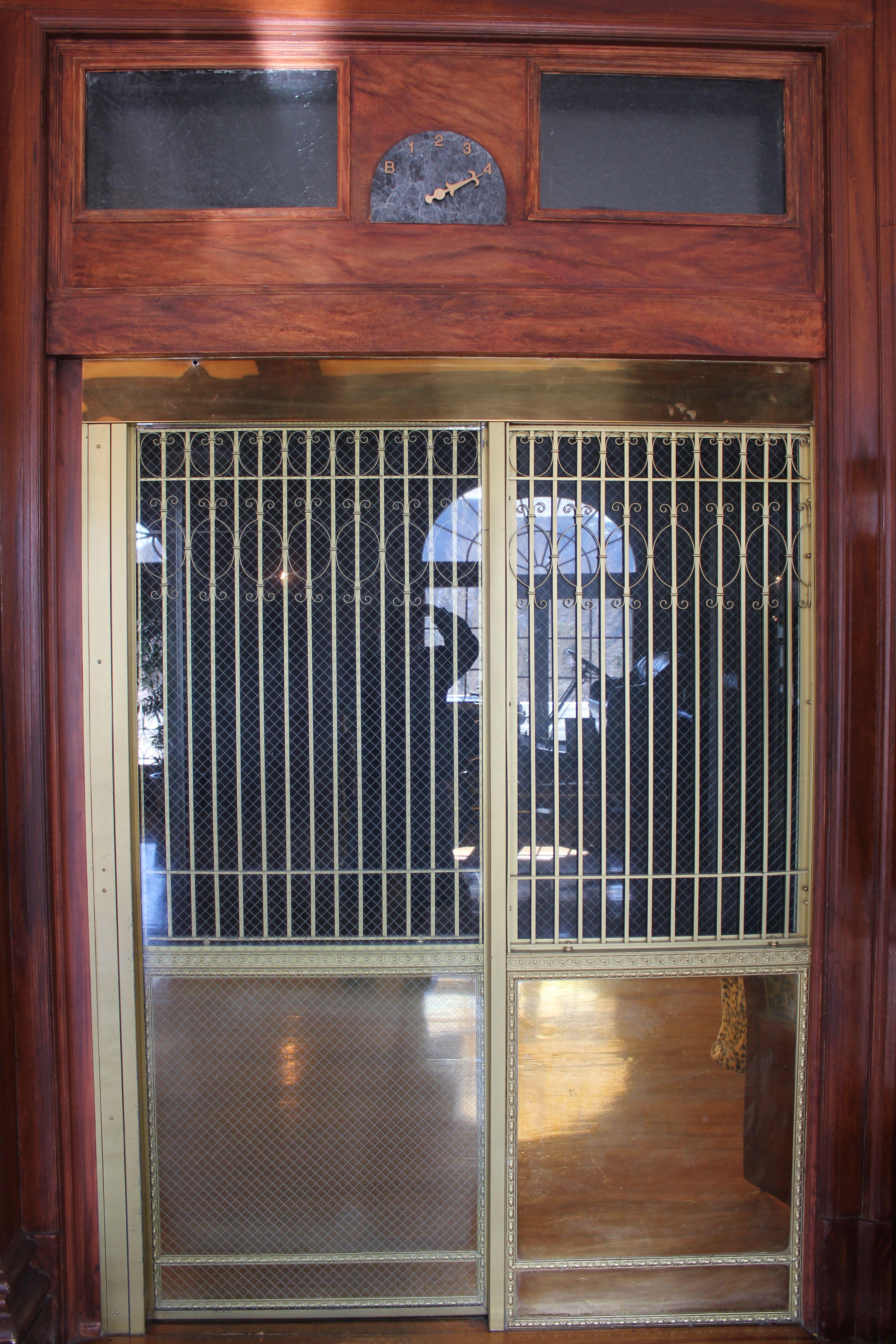 Stanley Hotel Elevator Doors In Estes Park Colorado