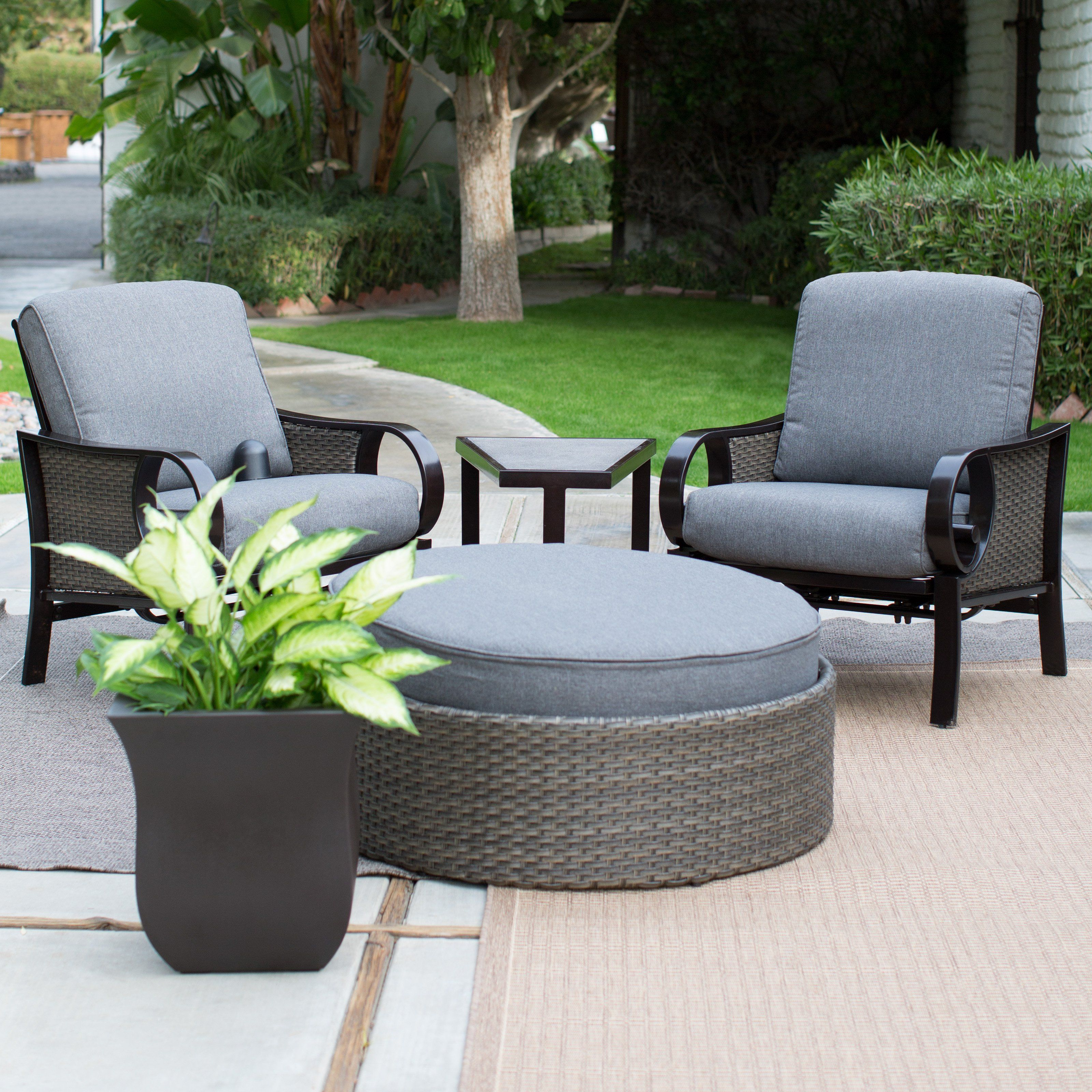 Have to have it Belham Living Langdon All Weather Wicker Chat Set